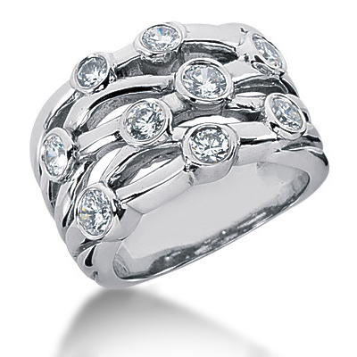Platinum Diamond Right Hand Womens Ring 1.14ct Platinum Diamond Right Hand Womens Ring 1.14ct