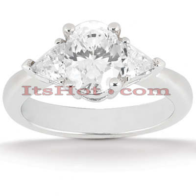Ultra Thin Platinum Diamond Three Stones Engagement Ring 1.25ct Main Image