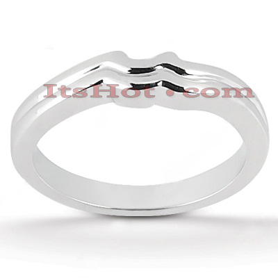 Thin Platinum Engagement Band Main Image