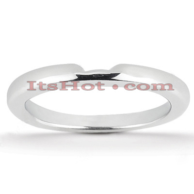 Thin Platinum Engagement Wedding Band Main Image