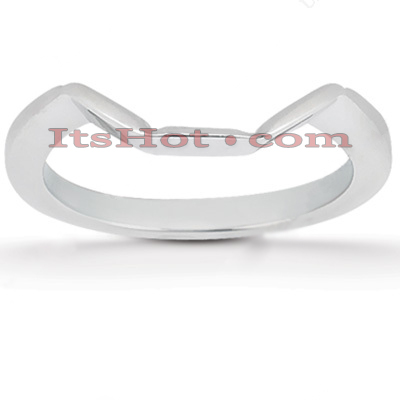 Ultra Thin Platinum Engagement Wedding Band Main Image