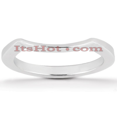 Ultra Thin Platinum Engagement Wedding Ring Main Image