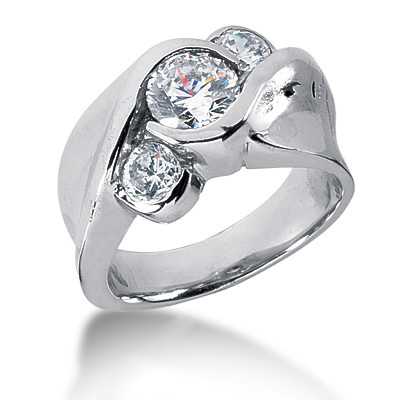 Platinum Ladies Diamond Ring 0.31ct Main Image