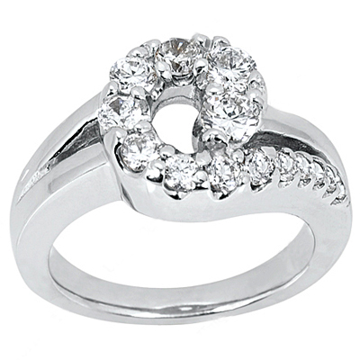 Platinum Ladies Diamond Ring 0.50ct Main Image