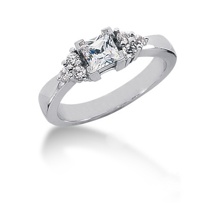 Thin Platinum Ladies Diamond Ring 0.65ct Main Image