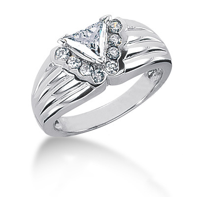 Platinum Ladies Diamond Ring 0.82ct Main Image