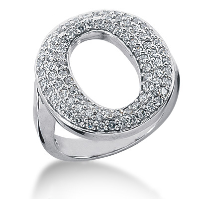 Platinum Ladies Diamond Ring 0.86ct Main Image