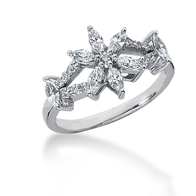 Platinum Ladies Diamond Ring 0.91ct Platinum Ladies Diamond Ring 0.91ct