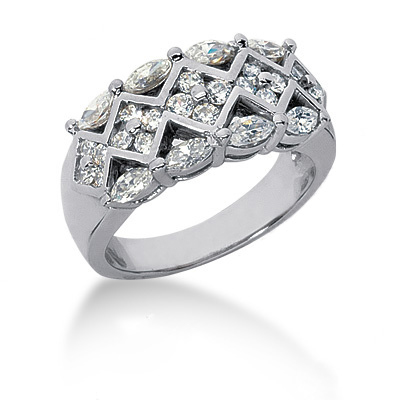 Platinum Ladies Diamond Ring 1.06ct Main Image