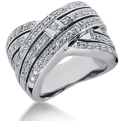 Platinum Ladies Diamond Ring 1.13ct Main Image