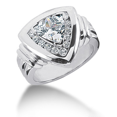 Platinum Ladies Diamond Ring 1.15ct Main Image