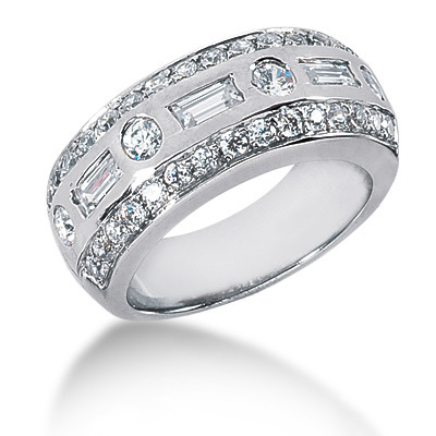 Platinum Ladies Diamond Ring 1.24ct Main Image
