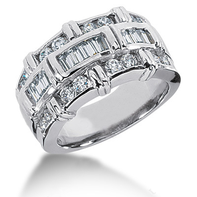 Platinum Ladies Diamond Ring 1.27ct Main Image