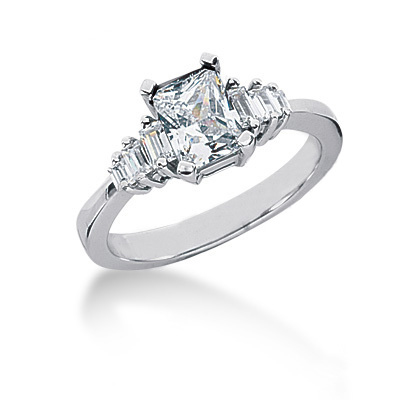 Ultra Thin Platinum Ladies Diamond Ring 1.28ct Main Image