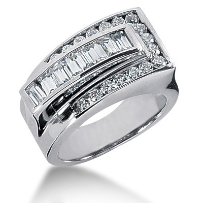 Platinum Ladies Diamond Ring 1.31ct Main Image