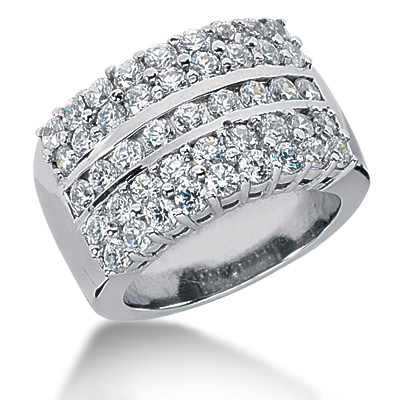 Platinum Ladies Diamond Ring 1.35ct Main Image