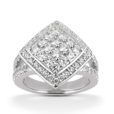 Platinum Ladies Diamond Ring 1.47ct Main Image
