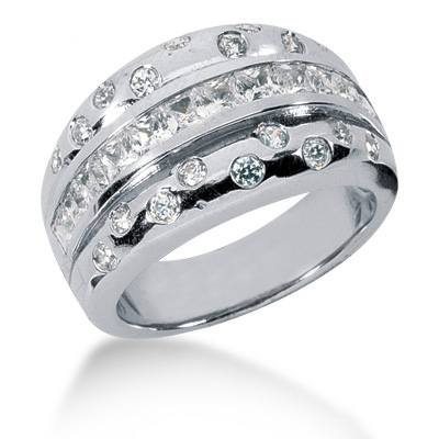 Platinum Ladies Diamond Ring 1.55ct Main Image
