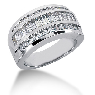 Platinum Ladies Diamond Ring 1.65ct Main Image