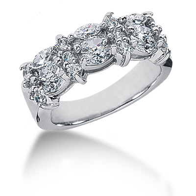 Platinum Ladies Diamond Ring 1.74ct Main Image