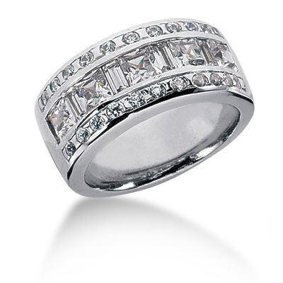 Platinum Ladies Diamond Ring 2.07ct Main Image