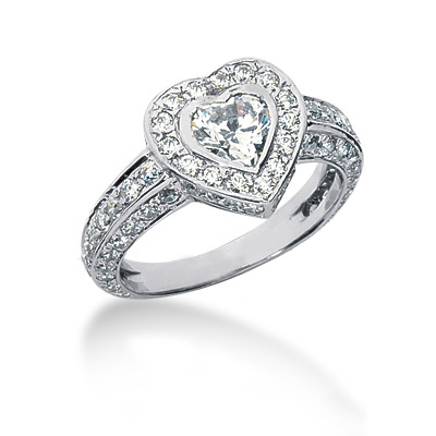 Platinum Ladies Diamond Ring 2.08ct Main Image