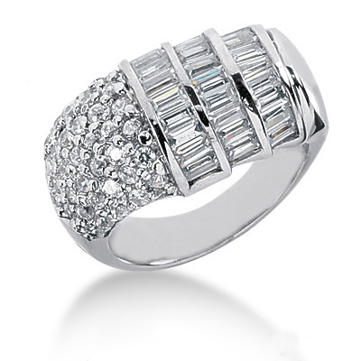 Platinum Ladies Diamond Ring 2.14ct