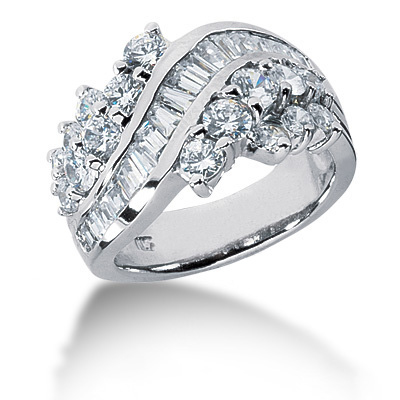 Platinum Ladies Diamond Ring 2.19ct Main Image