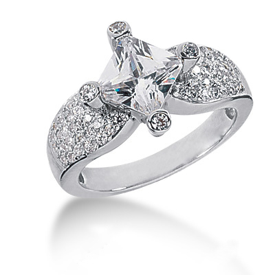 Platinum Ladies Diamond Ring 2.26ct Main Image