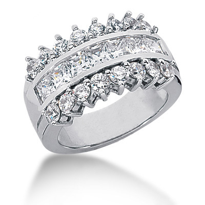 Platinum Ladies Diamond Ring 2.31ct Main Image