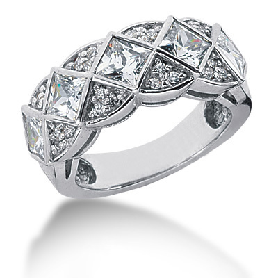 Platinum Ladies Diamond Ring 2.32ct Main Image