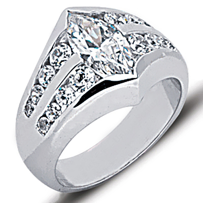 Platinum Ladies Diamond Ring 2.35ct Main Image