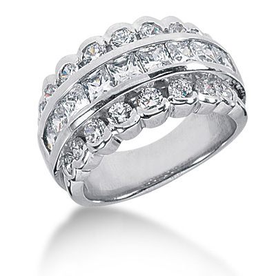 Platinum Ladies Diamond Ring 2.49ct Main Image