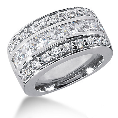 Platinum Ladies Diamond Ring 2.96ct Main Image