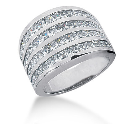 Platinum Ladies Diamond Ring 3.16ct Main Image