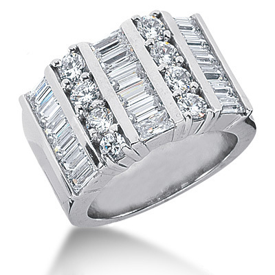 Platinum Ladies Diamond Ring 3.36ct Platinum Ladies Diamond Ring 3.36ct