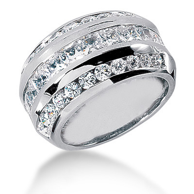 Platinum Ladies Diamond Ring 3.57ct Main Image