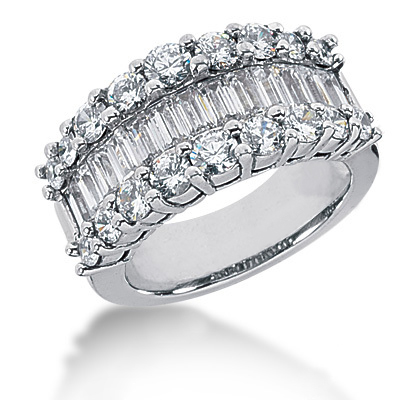 Platinum Ladies Diamond Ring 3.58ct