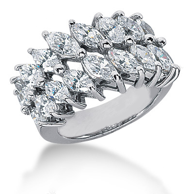 Platinum Ladies Diamond Ring 3.66ct Platinum Ladies Diamond Ring 3.66ct