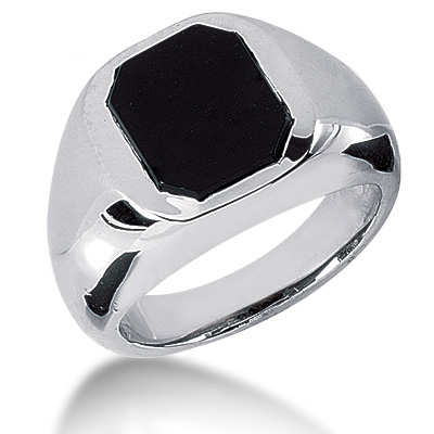 Platinum Men's Black Onyx Ring Platinum Men's Black Onyx Ring
