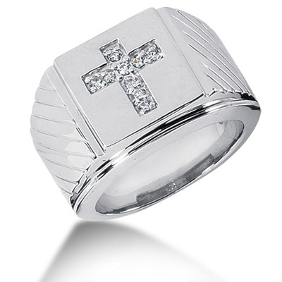 Platinum Men's Diamond Ring 0.23ct Main Image