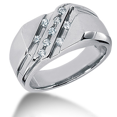 Platinum Men's Diamond Ring 0.27ct Main Image
