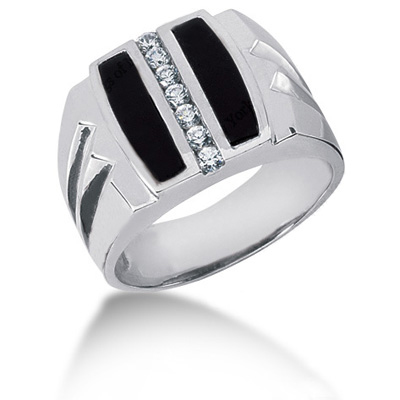 Platinum Men's Diamond Ring 0.28ct Main Image