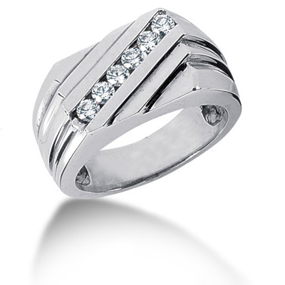 Platinum Men's Diamond Ring 0.48ct Main Image