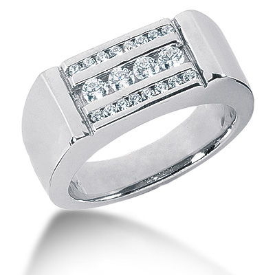 Platinum Men's Diamond Ring 0.56ct Main Image