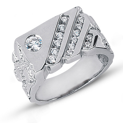 Platinum Men's Diamond Ring 0.63ct Platinum Men's Diamond Ring 0.63ct