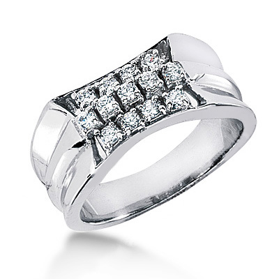 Platinum Men's Diamond Ring 0.65ct Main Image