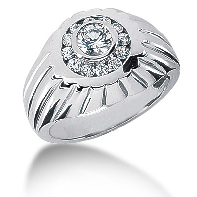 Platinum Men's Diamond Ring 0.86ct Main Image