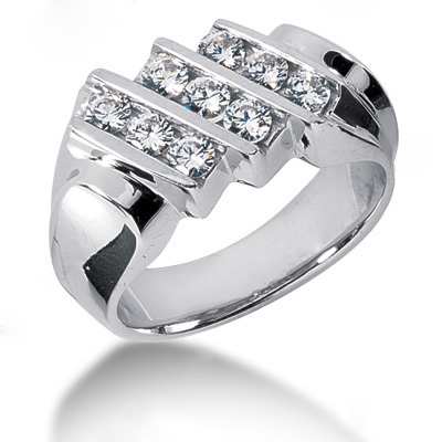 Platinum Men's Diamond Ring 1.08ct Platinum Men's Diamond Ring 1.08ct
