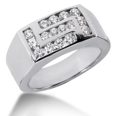 Platinum Men's Diamond Ring 1ct Main Image